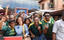 Springbok fans at Monte Casino, in Johannesburg, after the national team won the 2019 Rugby World Cup. Picture: Ahmed Kajee/EWN