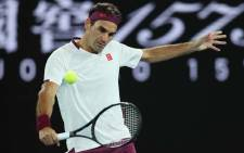 FILE: Switzerland's Roger Federer during their men's singles match on day seven of the Australian Open tennis tournament in Melbourne on 26 January 2020. Picture: @AustralianOpen/Twitter