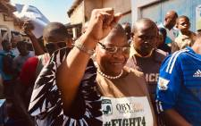 Oby Ezekwesili on the campaign trail. Picture: @obyezeks/Twitter
