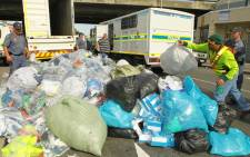 Cape Town law enforcement officials, backed by the military, raided the Bellville CBD in a massive anti-crime blitz on 7 May 2015. Picture: SAPS.