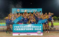 FNB UWC defended their Varsity Shield title with a 52-10 win over FNB WSU: Picture: Twitter/@Varsitycup