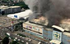 A fire at NCC Mall in the Philippines killed at least 37 people. Picture: CNN screengrab.