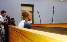 Elmario Maasdorp on Tuesday 2 February pleads guilty to the 1999 murder of Valencia Farmer in Eerste River. Picture: Shamiela Fisher/EWN.