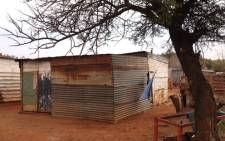 The shack in Fochville that was operating as a shebeen where a shooting occurred on 26 August, 2012. Picture: Govan Whittles/EWN.