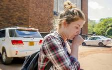 US citizen, Martha O'Donovan, who was arrested for undermining the authority of Zimbabwe President Robert Mugabe on Twitter, arrives at Harare Magistrate's Court in Harare 4 November 2017. Picture: AFP