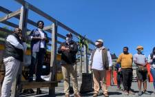 Cape Town Tourism officials and the Langa Tourism Forum members at IKhaya Le Langa site in Langa on 16 September 2021. Picture: Kaylynn Palm/Eyewitness News