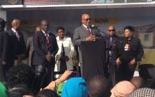 President Jacob Zuma addressing residents of Danville, Pretoria West, on 18/07/2013 in the launch of new low cost housing settlement. Picture:Christa Van der Walt/EWN