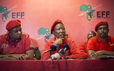 FILE. EFF leader Julius Malema addresses the media at a press conference at the partys head office in Johannesburg on 13 October 2016. Picture: Reinart Toerien/EWN