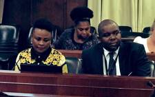 Public Protector Advocate Busisiwe Mkhwebane (left) and her deputy Kevin Malunga (right) appear before Parliament's justice committee on 18 October 2019 to present their office's annual performance report. Picture: @PublicProtector/Twitter