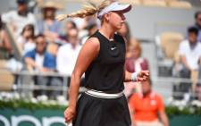 Anastasia Potapova in action at the French Open on 26 May 2019. Picture: @rolandgarros/Twitter