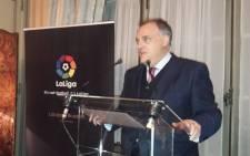 FILE: La Liga's President Javier Tebas. Picture: @Tebasjavier/Twitter.