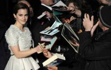 British actress Emma Watson. Picture: AFP.