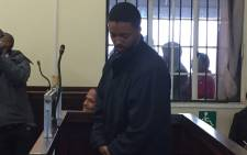 Mark Warona Zinde, 28, Appears in the Brits Magistrates Court where he was charged with Murder and possession of illegal substances. Pictures : Kgothatso Mogale/EWN