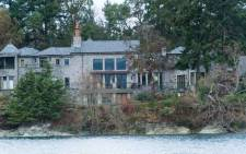 The residence of Prince Harry and and his wife Meghan is seen in Deep Cove Neighborhood from a boat on the Saanich Inlet, North Saanich, British Columbia on 21 January 2020. Picture: AFP.