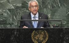 Mauritius' Prime Minister Pravind Kumar Jugnauth addresses the 73rd session of the General Assembly at the United Nations in New York on 28 September 2018. Picture: AFP