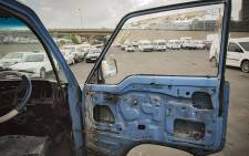 The interior of an impounded taxi as JMPD chief David Tembe took the media on a mini tour around the compound where hundreds of impounded vehicles are kept on 26 June 2018. Picture: Sethembizo Zulu/EWN