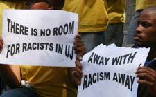 Students from University of Johannesburg stage a protest against racism. Picture: Taurai Maduna/Eyewitness News