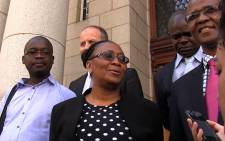 FILE: Communications Portfolio Committee chair Joyce Moloi-Moropa outside Western Cape High Court. Picture: Aletta Harrison/EWN