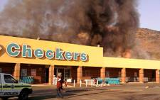 A fire broke out at the Checkers in Little Falls, west of Johannesburg, on 22 July 2011. Picture: iWitness