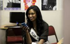 Miss USA 2012 Nana Meriwhether during a visit to Soweto on 23 May 2013