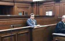 Family axe murder accused Henri van Breda in the Western Cape High Court on 9 October 2017. Picture: Monique Mortlock/EWN