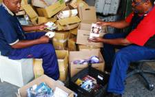 Pirated copies of dvd's valued at R25 million that where destroyed in Johannesburg. Picture: Taurai Maduna/Eyewitness News