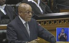 President Jacob Zuma in Parliament