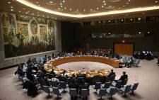 FILE: A meeting of the UN Security Council meeting at United Nations headquarters in New York on 26 February 2020. Picture: Johannes Eisele/AFP