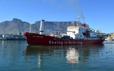 The SA Agulhas Leaves Cape Town on its voyage across Antarctica on 7 January 2013. Picture: Renee de Villiers/EWN