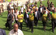 President Jacob Zuma at the ANC's election manifesto in Port Elizabeth on 16 April, 2016. Picture: Vumani Mkhize/EWN.