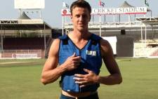 Morne Morkel wearing an ice vest. Picture: CSA