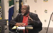 ANC secretary general Gwede Mantashe briefing the media on 29 May 2017 following the NEC meeting over the weekend. Picture: Kgothatso Mogale/EWN