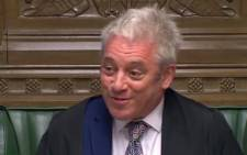 A YouTube screengrab shows British parliament Speaker John Bercow on 28 March 2019.