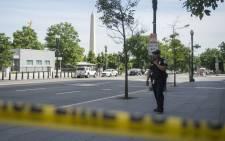 FILE: Secret service officer on patrol in Washington DC. Picture: AFP