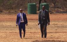 City of Tshwane Executive Mayor Kgosientso Ramokgopa conducts a site visit of the Cullinan grounds where the cancelled TribeOne Festival was meant to be held, Tuesday 23 September. Picture: Vumani Mkhize/EWN.
