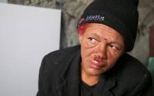 Vinzel van Neel spends her days begging on the streets & spending her pennies on wine to keep warm. Picture: EWN