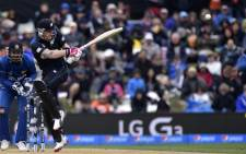 New Zealand batter captain Brendon McCullum (R plays a shot with Sri Lanka's keeper Kumar Sangakkara looking on during the Pool A 2015 Cricket World Cup match between Sri Lanka and New Zealand at Hagley Oval in Christchurch on February 14, 2015. Picture: AFP.
