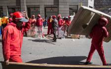 Red Ants evict residents of a block of flats on Harrison Street in Jeppestown. Picture: Thomas Holder/EWN.