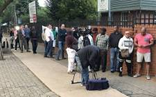 Voters line up at the Arcadia Primary School in Pretoria to cast their ballots on 8 May 2019. Picture: Barry Bateman/EWN