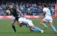 Marcell Coetzee in action against the Pumas in Cape Town on 18 August 2012. Picture: Aletta Gardner/EWN
