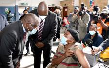 President Cyril Ramaphosa visits a COVID-19 vaccination site in Tembisa on 29 July 2021. Picture: GCIS
