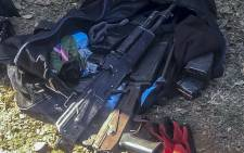 Police recovered weapons, ammunition and arrested two suspects following a high-speed chase. Image: Supplied/JMPD