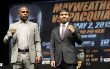 Manny Pacquiao and Floyd Mayweather. Picture: Floyd Mayweather.