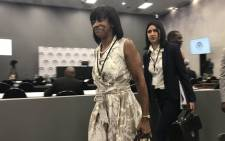 Former SAA board chair Cheryl Carolus arrives at the Zondo Commission on 29 November 2018. Picture: EWN