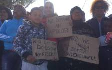 Bontehuewel residents demanding apology from Cape Town mayor Patricia de Lille after she allegedly swore at them. Picture: Siyabonga Sesant/EWN.