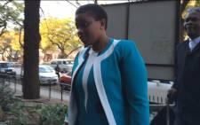 Deputy Prosecutions boss Nomgcobo Jiba arriving in court in Pretoria on 19 August 2015. Picture: Barry Bateman/EWN.