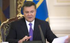 FILE: Viktor Yanukovich has taken refuge in Russia and denied ordering the shootings. Picture: AFP.