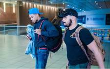 Chance The Rapper (left) arrived in South Africa ahead of the Castle Lite Unlocks concert at The Dome on 30 April 2018. Picture: On Air Entertainment.