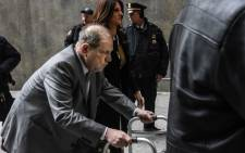 Harvey Weinstein arrives at New York City criminal court for his sex crimes trial on 7 January 2020 in New York City. Picture: AFP