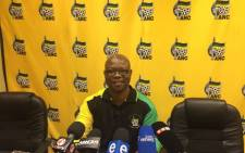 KZN ANC provincial secretary Super Zuma briefing the media on political killings in the province on 7 September 2017. Picture: Ziyanda Ngcobo/EWN